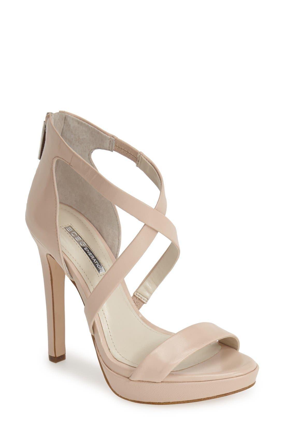Alternate Image 1 Selected - BCBGeneration 'Gidget' Leather Platform Sandal (Women)