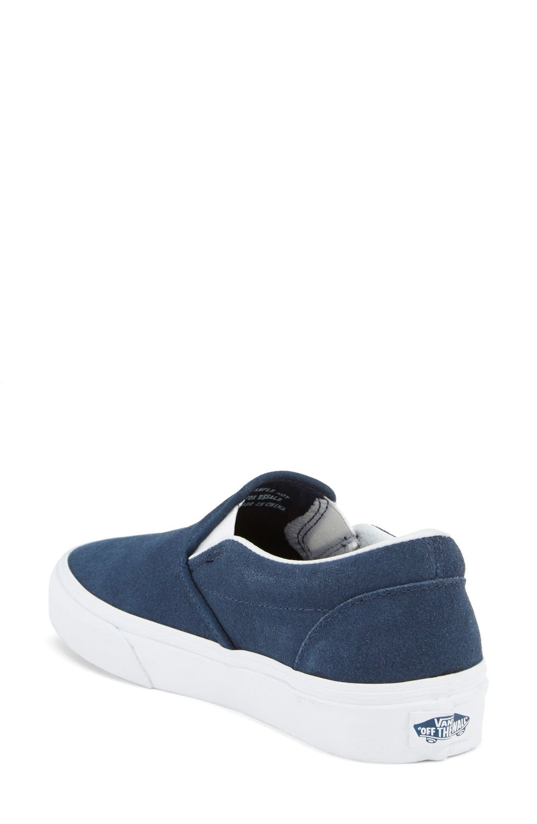 Alternate Image 2  - Vans Suede Slip-On Sneaker (Women)
