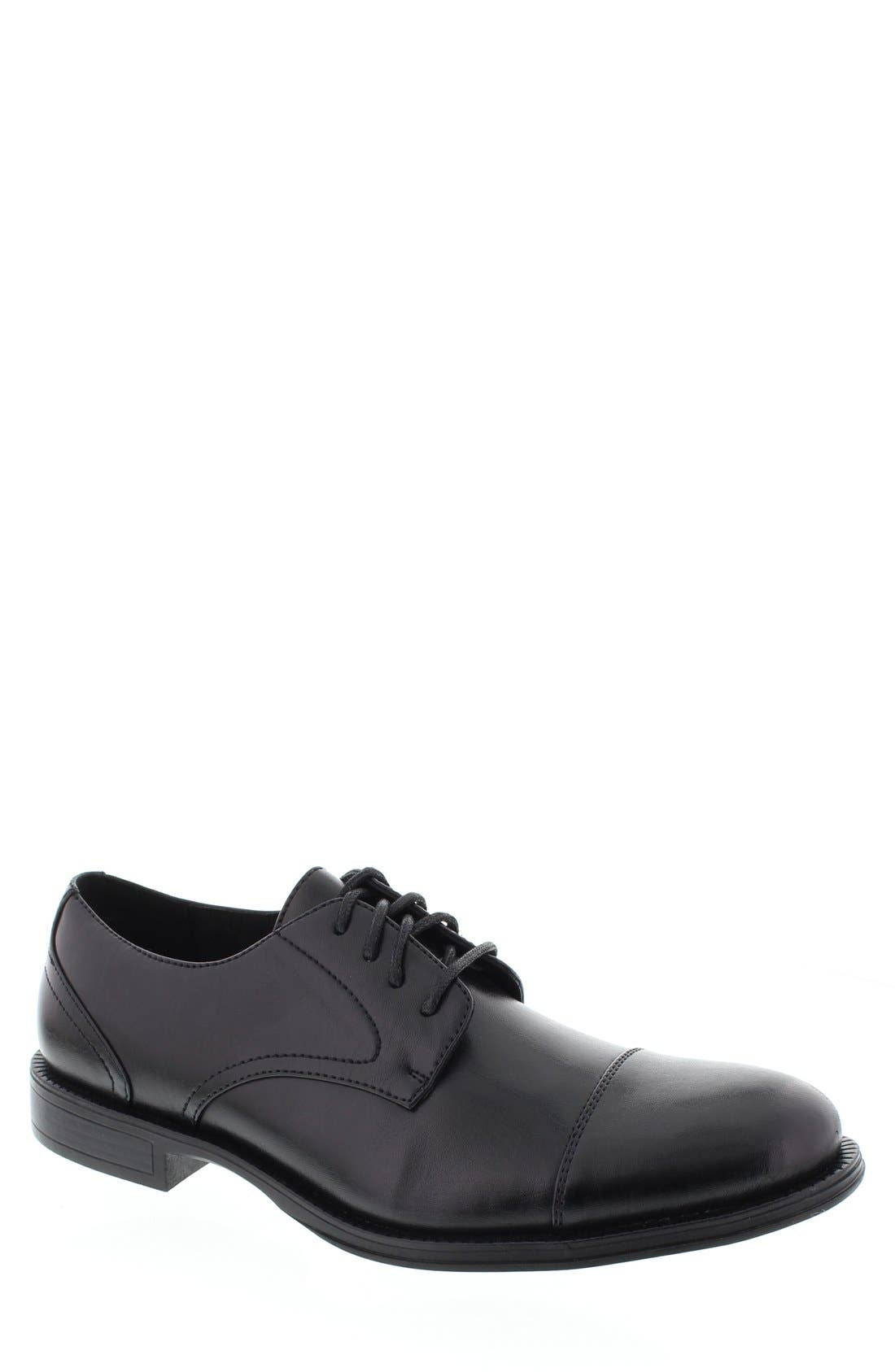 DEER STAGS 'Mode' Leather Cap Toe Derby