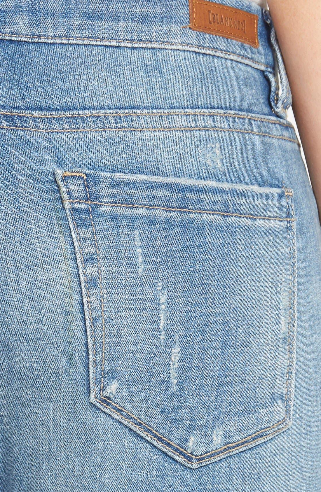 Alternate Image 3  - BLANKNYC 'Kale Yeah' Distressed Skinny Jeans (Medium)