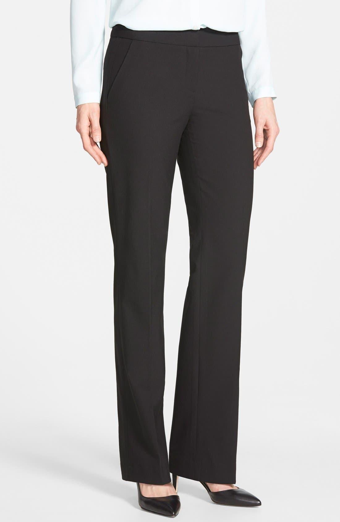 Main Image - Halogen® 'Taylor' Stretch Suit Pants (Regular & Petite)