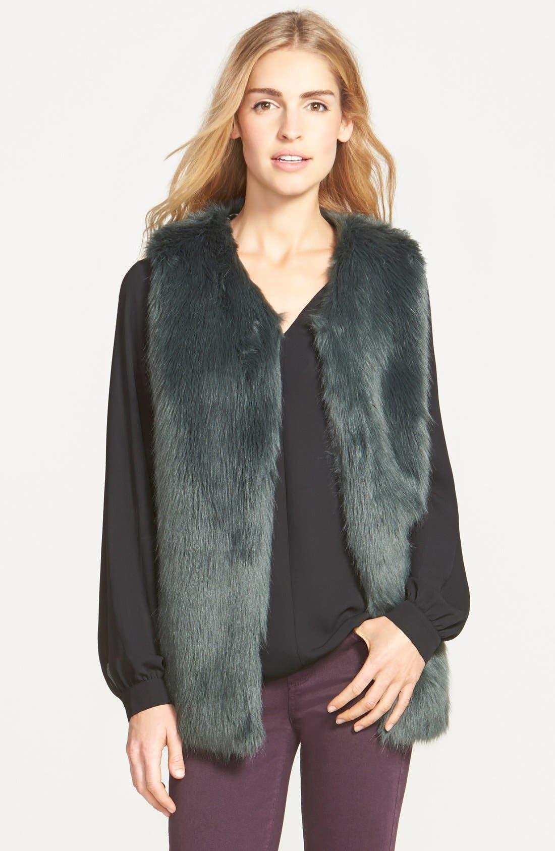 Alternate Image 1 Selected - Laundry by Design Faux Fur Vest