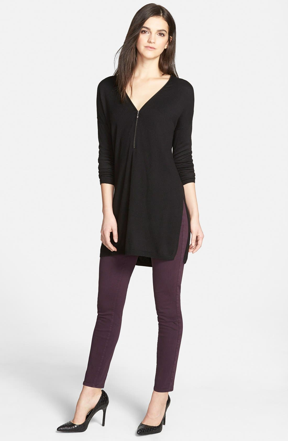 Alternate Image 5  - Paige Denim 'Verdugo' Ankle Skinny Jeans (Autumn Plum) (Nordstrom Exclusive)