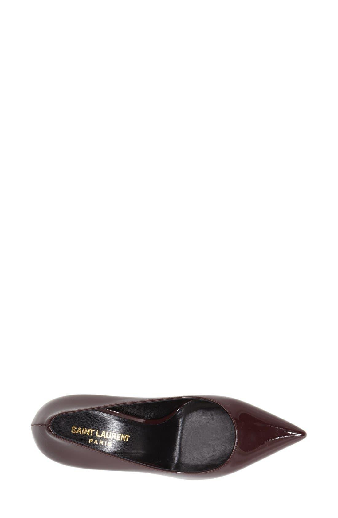 Alternate Image 3  - Saint Laurent 'Paris' Pointy Toe Pump (Women)