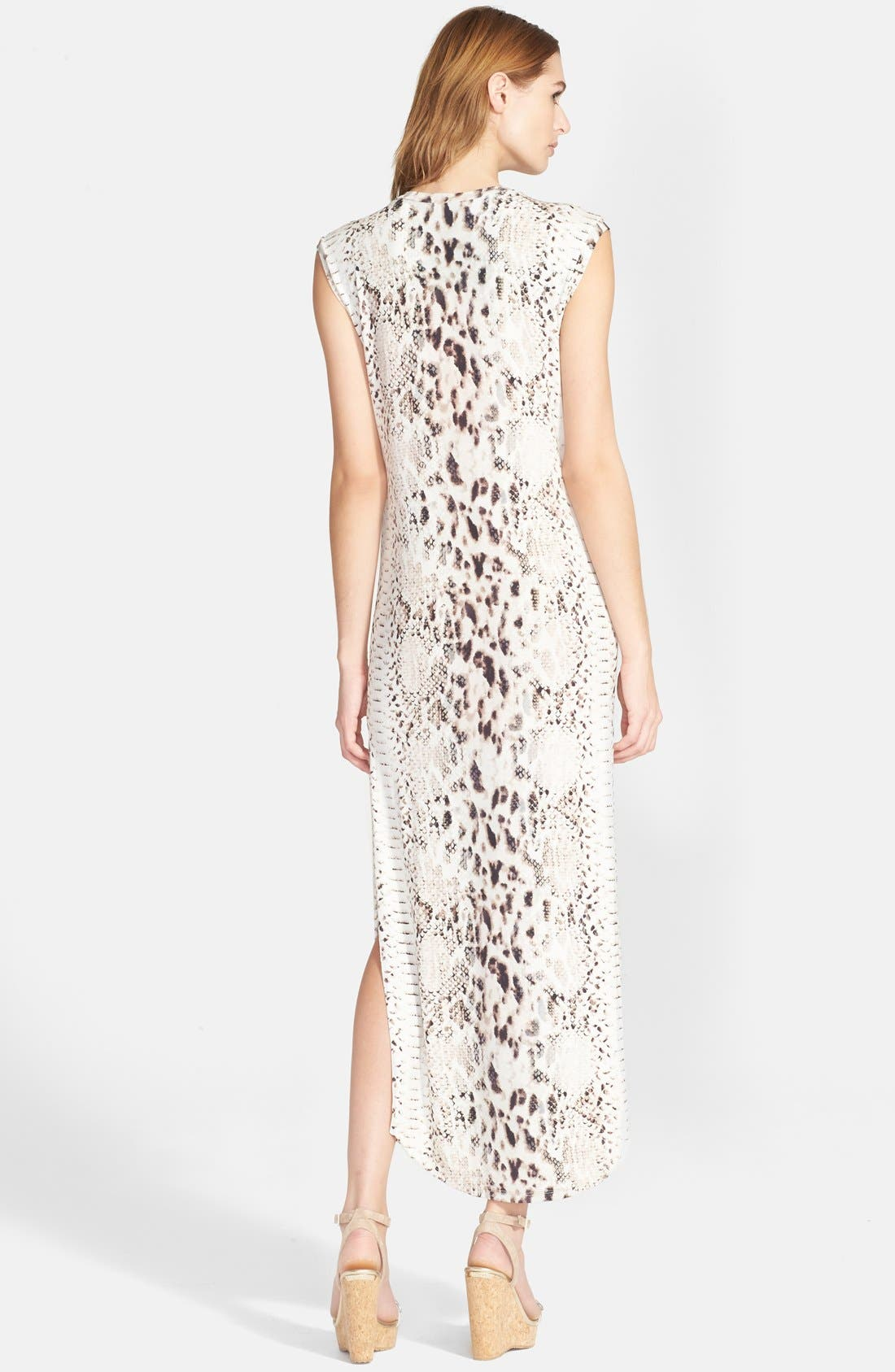Alternate Image 2  - Haute Hippie Snake Print Long V-Neck Muscle Dress