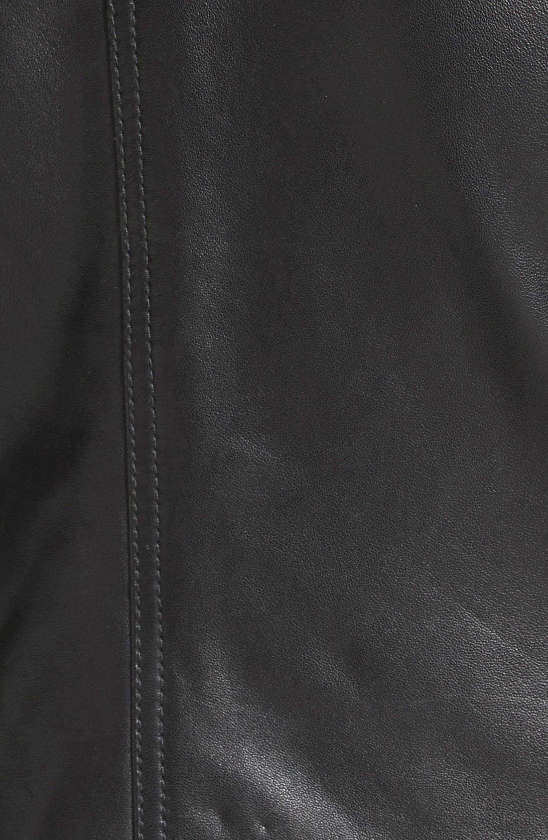 Alternate Image 3  - Halogen® Smocked Leather Jacket