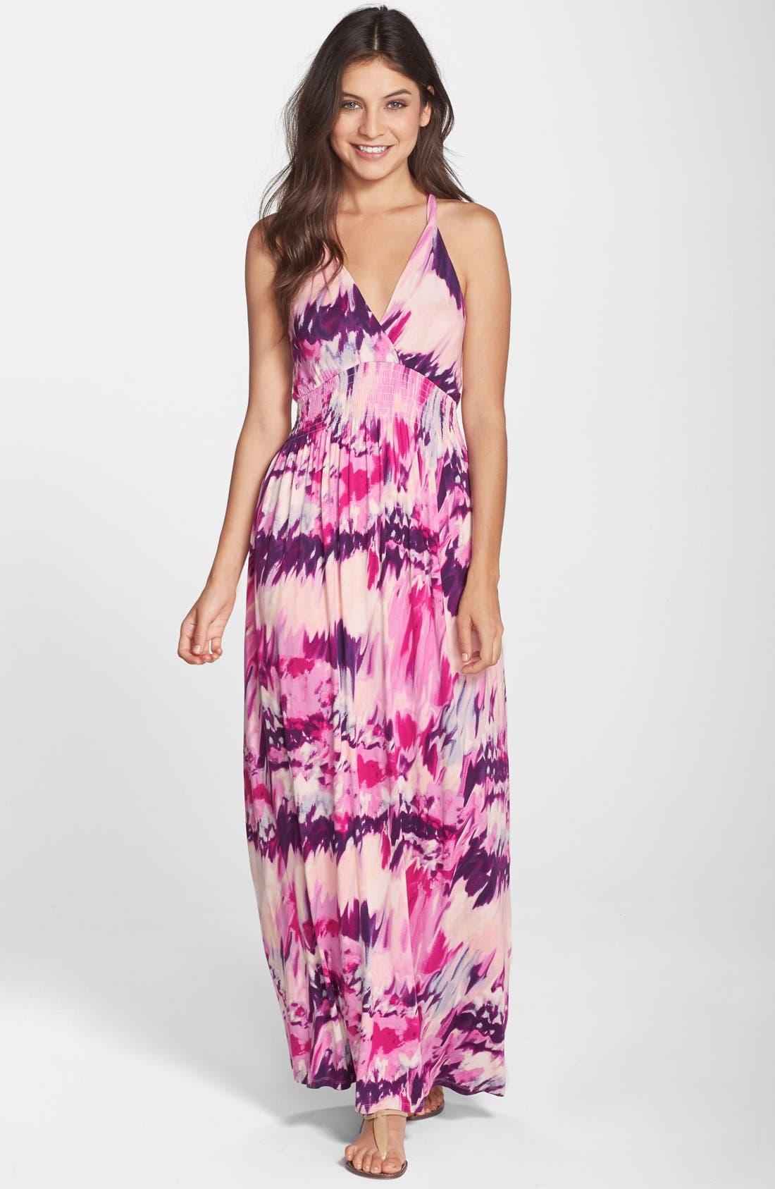 Alternate Image 1 Selected - Felicity & Coco 'Nina' Print Jersey Maxi Dress (Regular & Petite) (Nordstrom Exclusive)