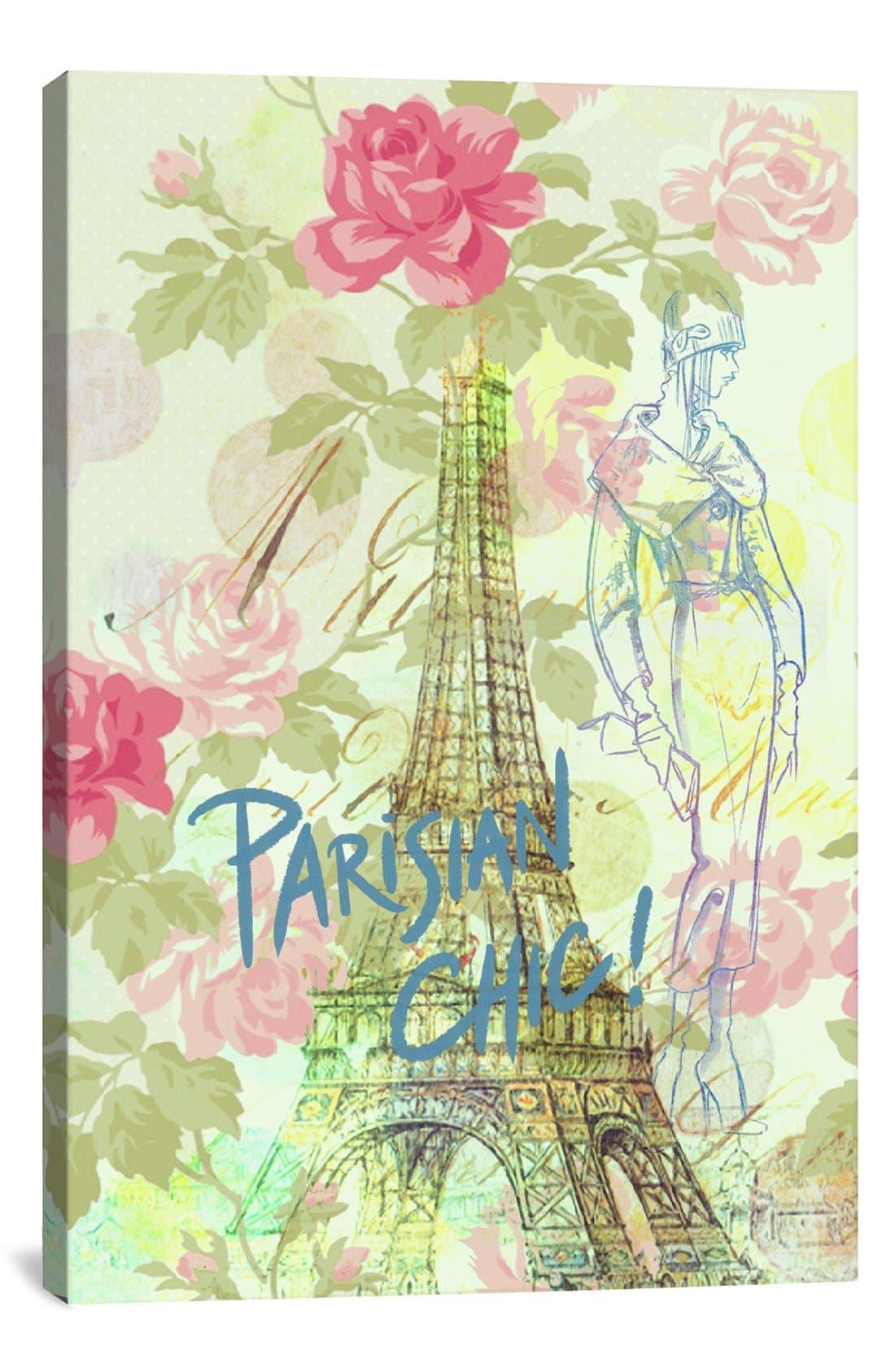 Alternate Image 1 Selected - iCanvas 'Parisian Chic - Guy Jinn' Giclée Print Canvas Art