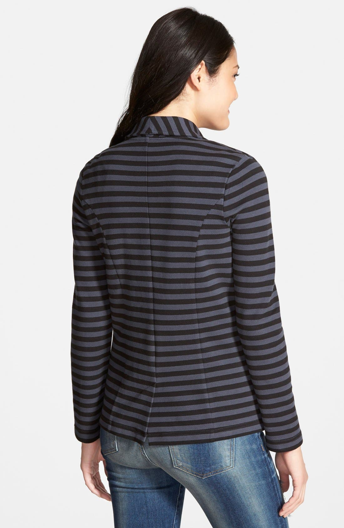 Alternate Image 2  - Caslon® Shawl Collar Knit Blazer (Regular & Petite)