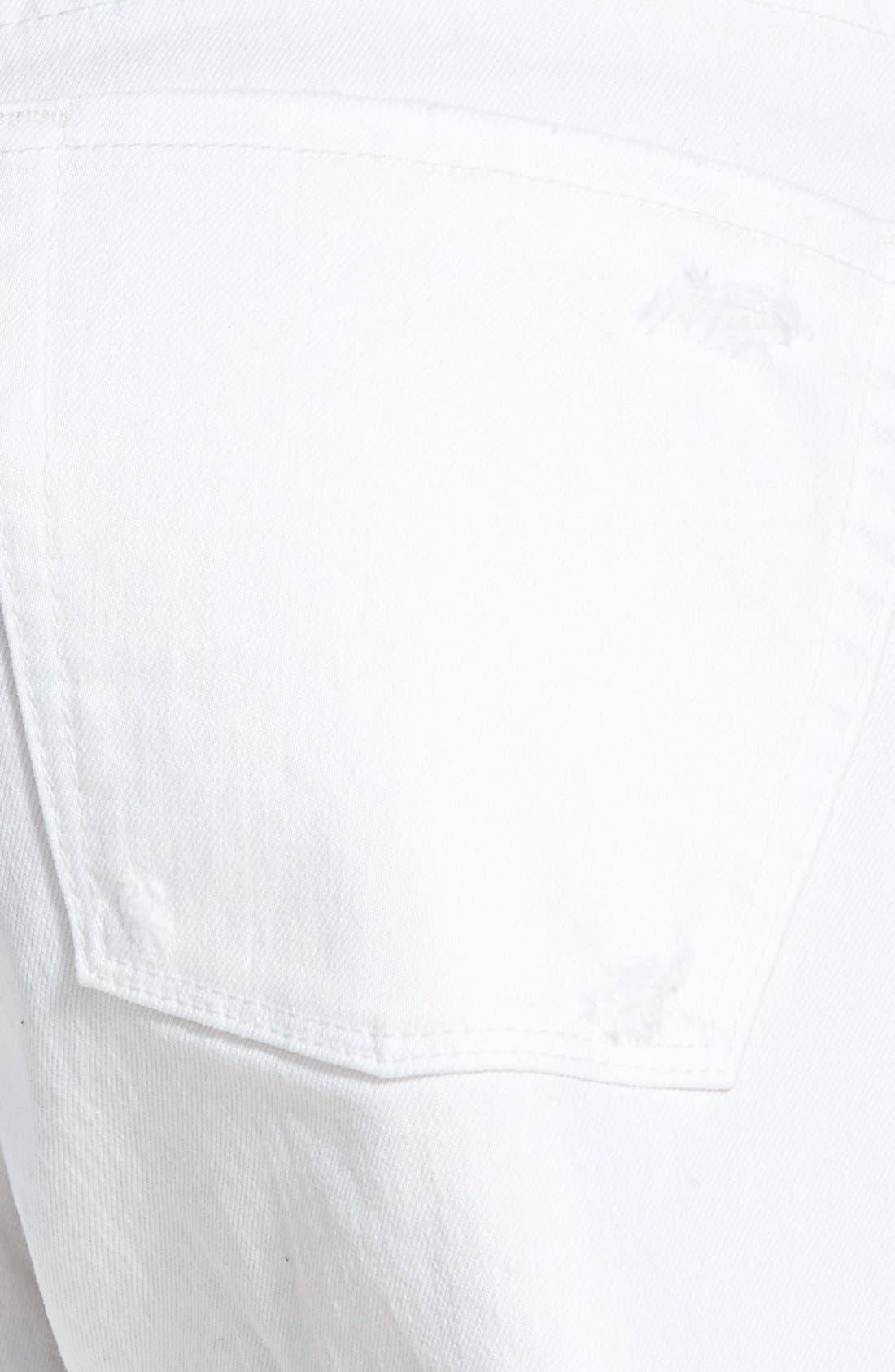Alternate Image 3  - Treasure&Bond Cutoff Shorts (White Worn)