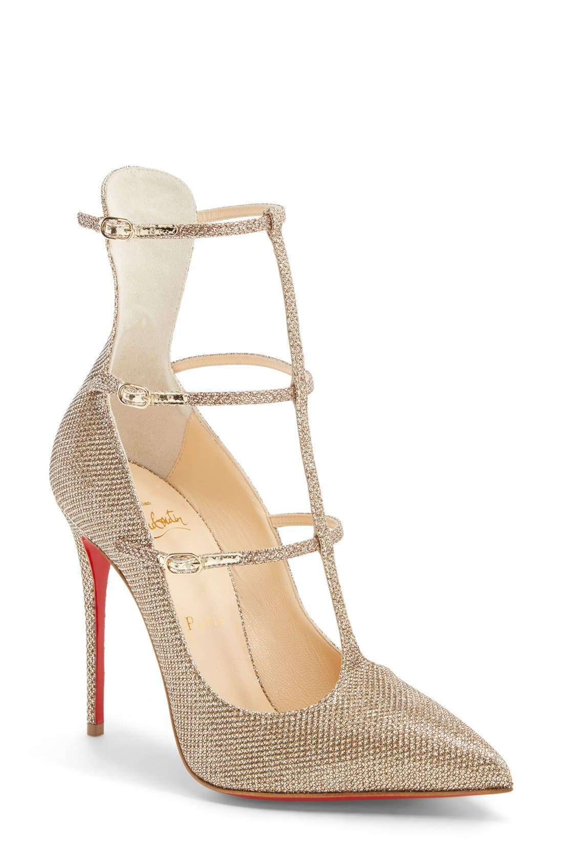 Alternate Image 1 Selected - Christian Louboutin 'Toeless' Caged Pointy Toe Pump