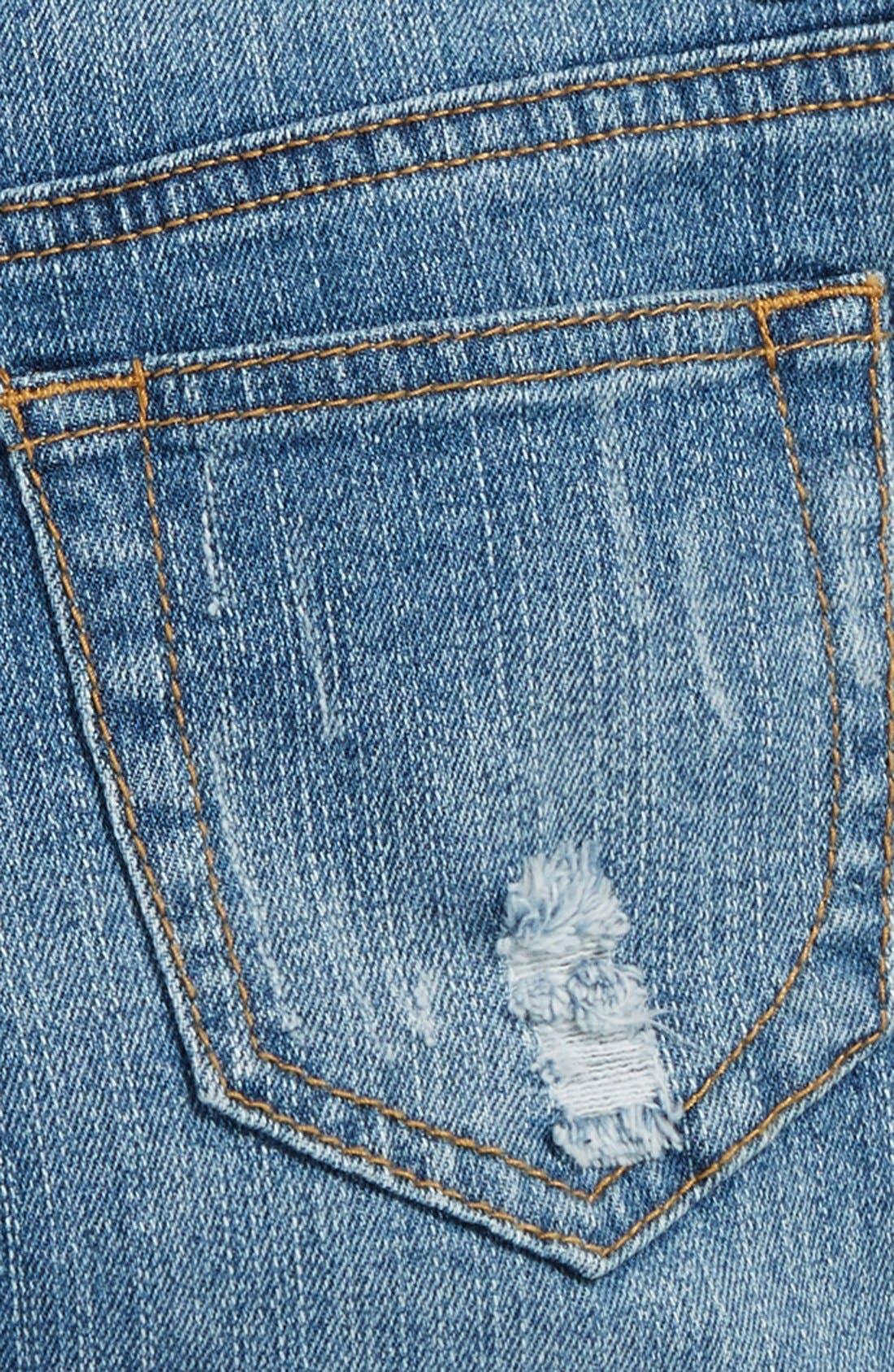 Alternate Image 3  - Vintage Havana Cuff Denim Boyfriend Shorts (Big Girls)