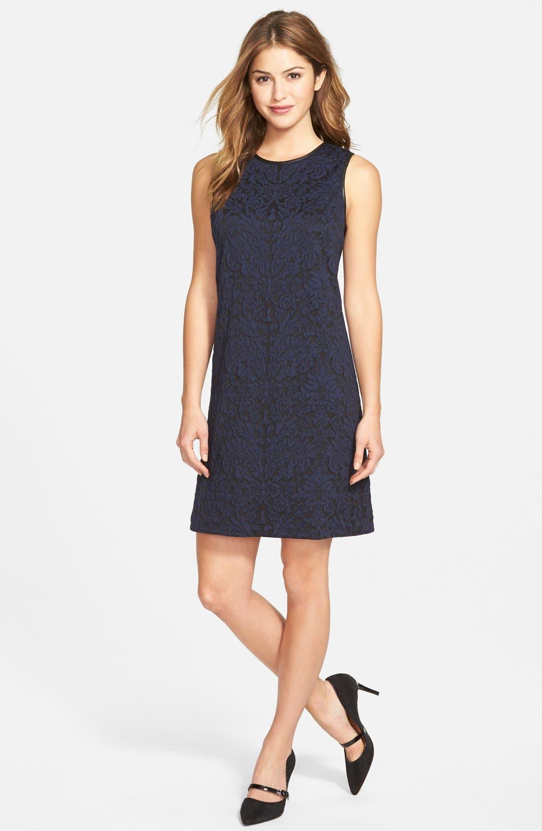 Alternate Image 3  - Vince Camuto Cotton Blend Jacquard A-Line Dress