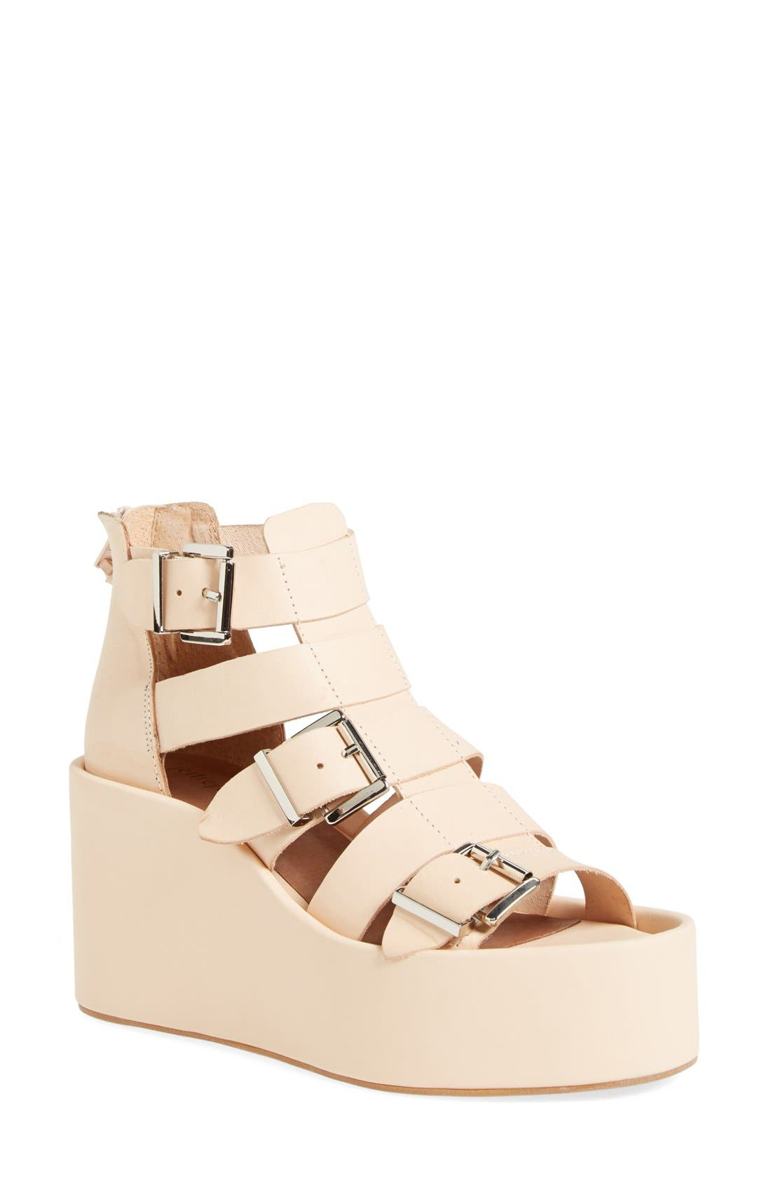 Alternate Image 1 Selected - Jeffrey Campbell 'Thetis' Platform Gladiator Sandal (Women)