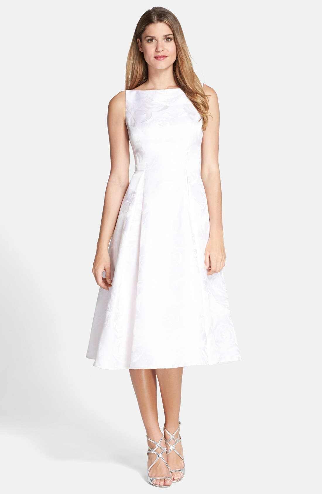 Alternate Image 1 Selected - Adrianna Papell Jacquard Midi Dress (Regular & Petite)