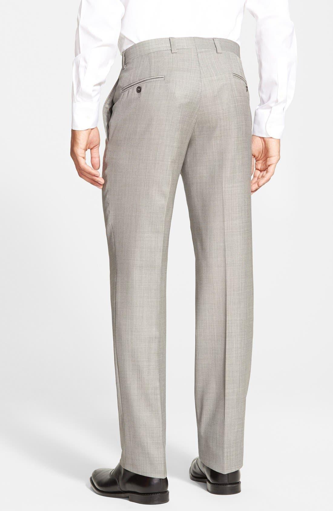 Alternate Image 2  - Ted Baker London Jefferson Flat Front Wool Trousers