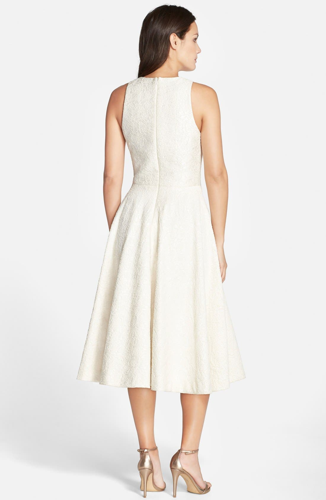 Alternate Image 2  - Vera Wang Embellished Jacquard Midi Dress