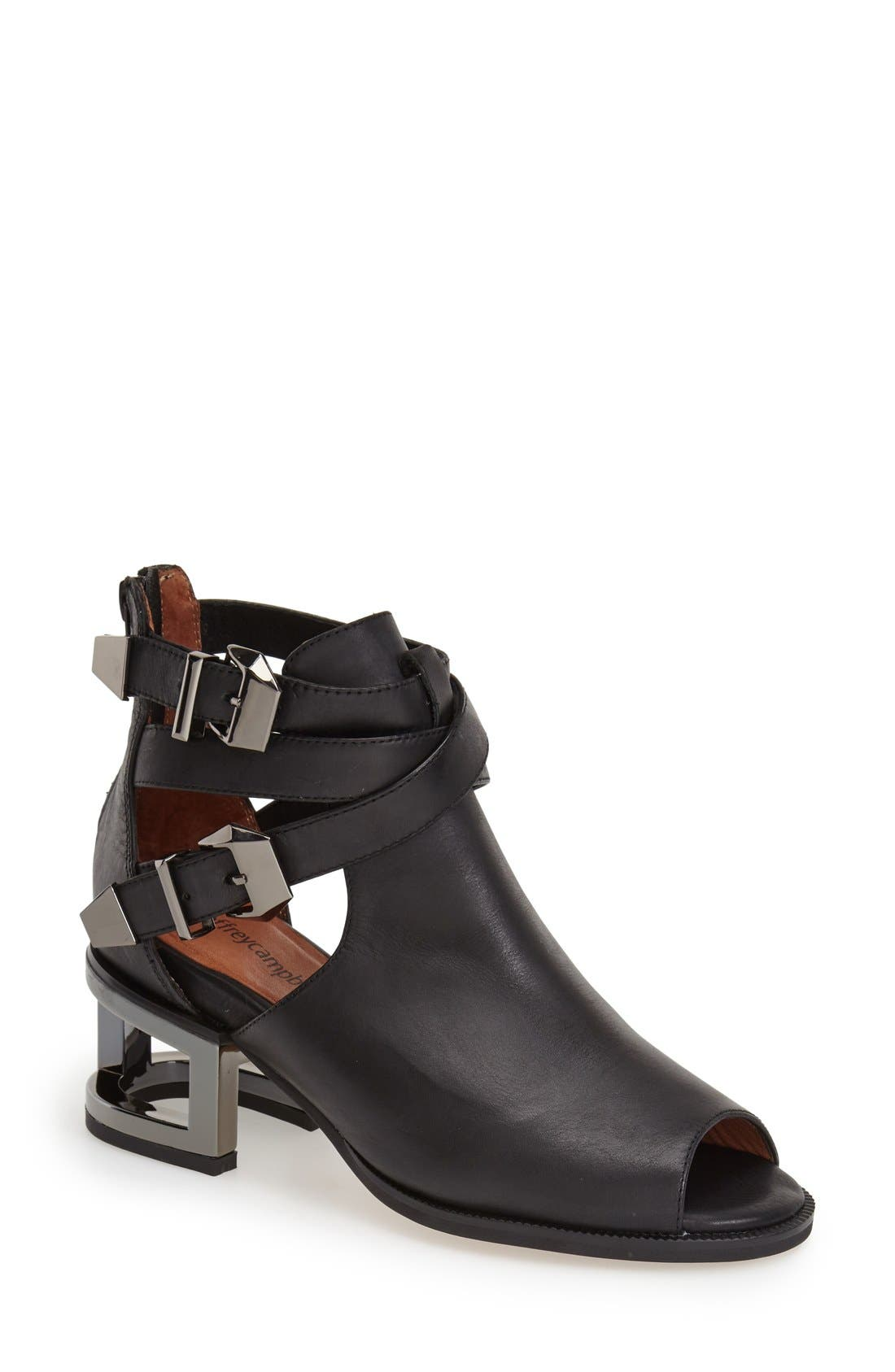 Alternate Image 1 Selected - Jeffrey Campbell 'Gentry' Open-Toe Bootie (Women)