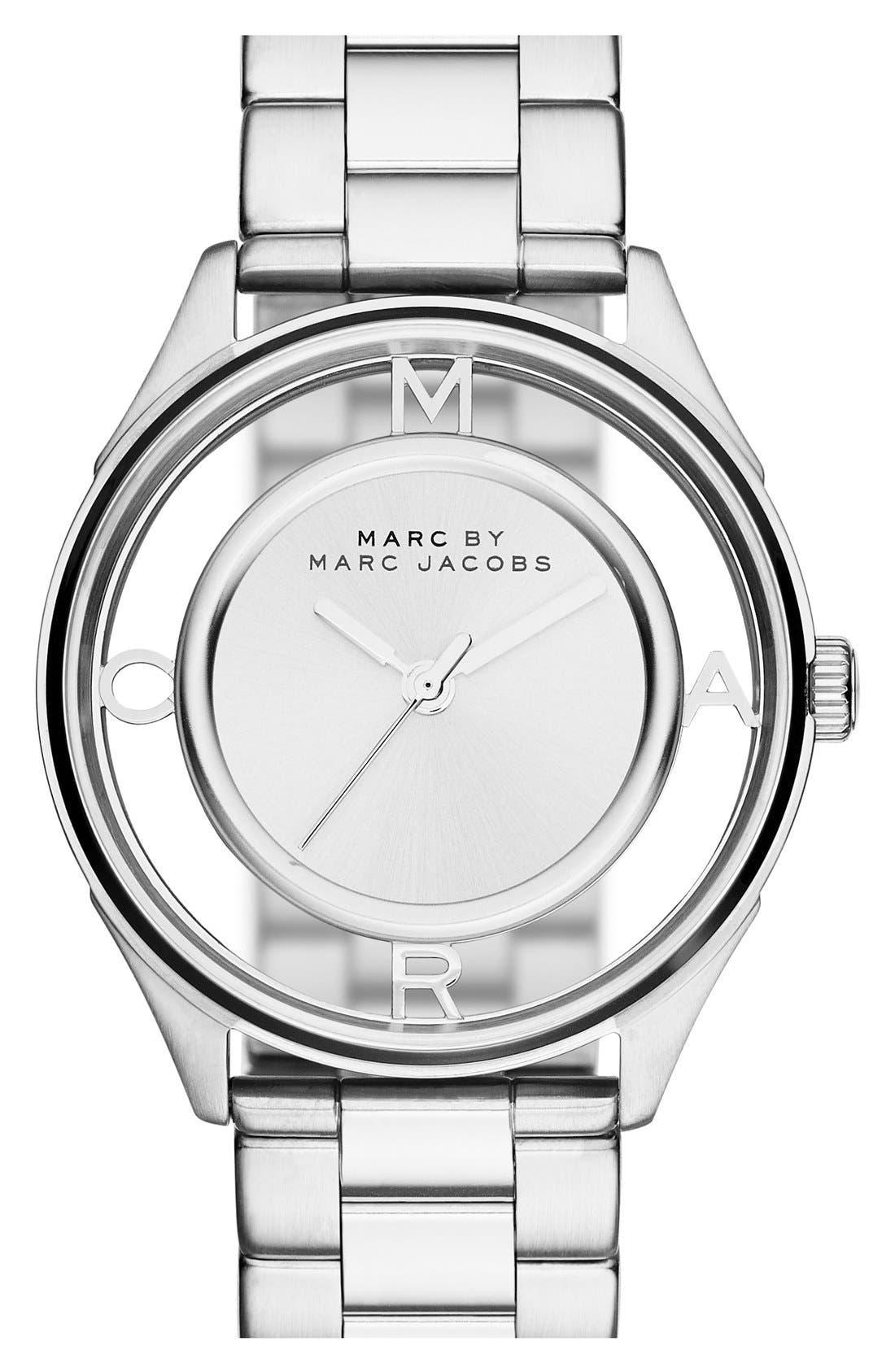 Main Image - MARC JACOBS 'Tether' Skeleton Bracelet Watch, 36mm