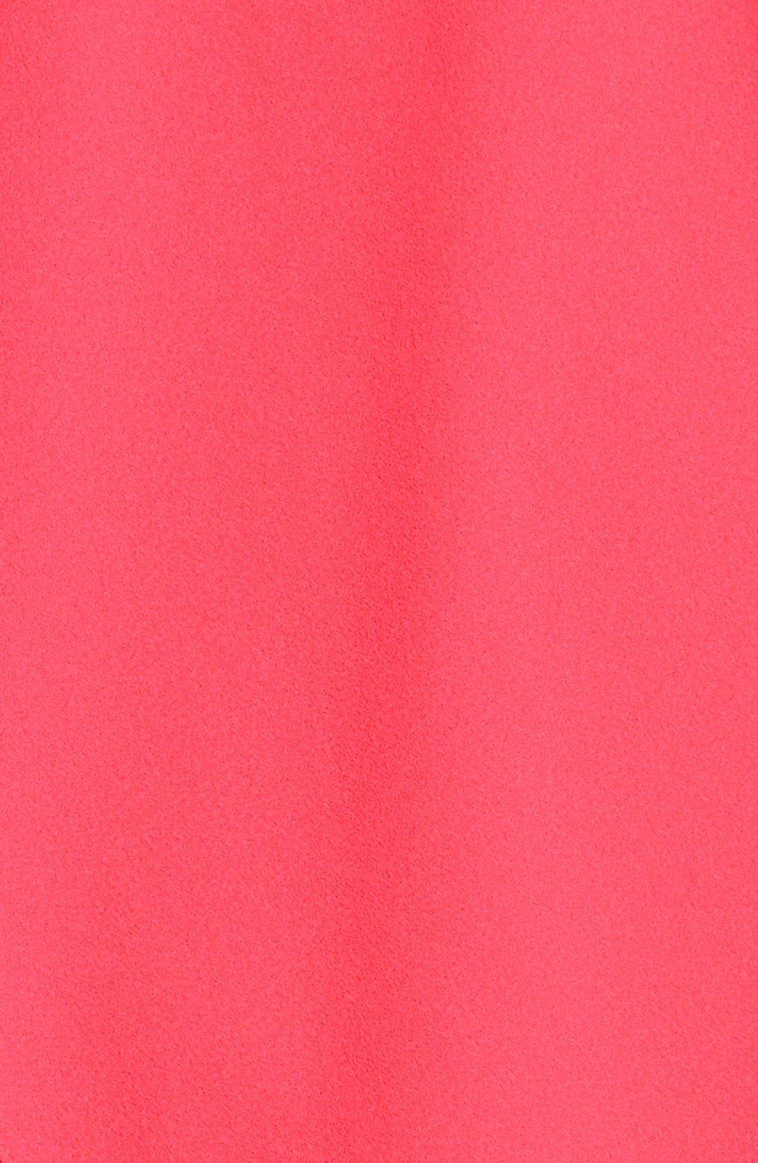 Alternate Image 4  - Aidan by Aidan Mattox One-Shoulder Crepe Dress