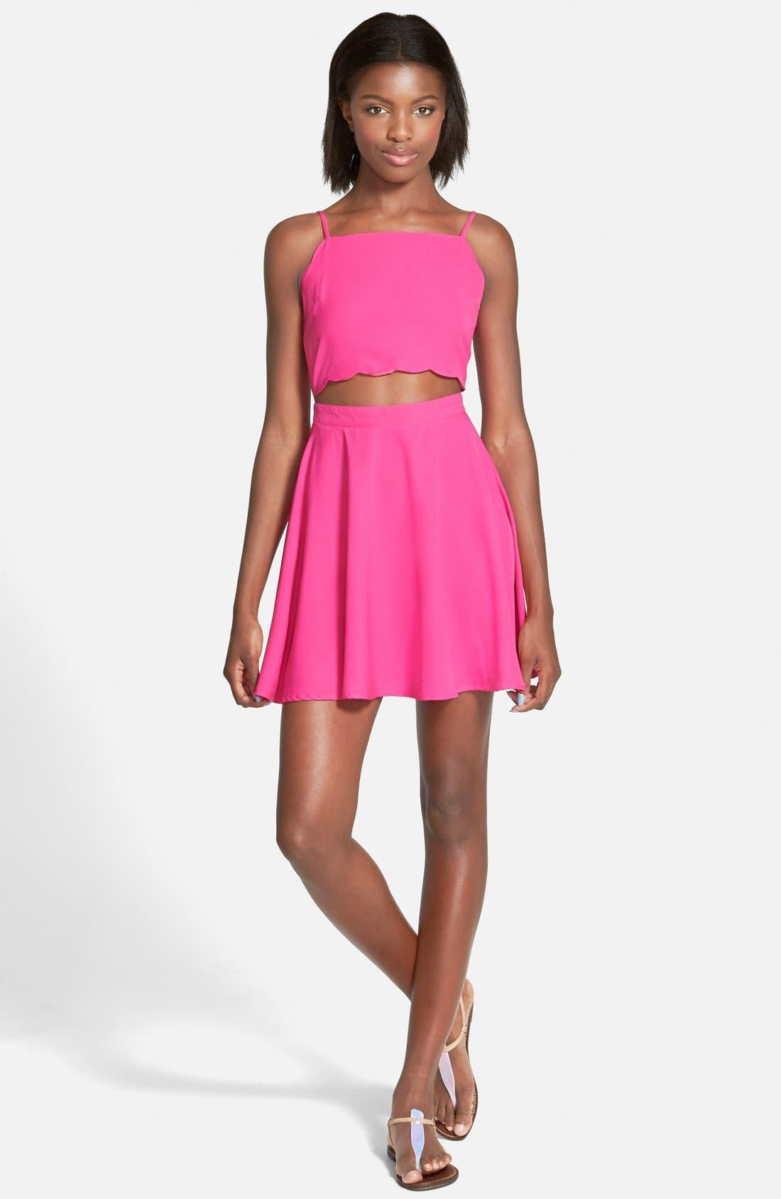 Main Image - Cream and Sugar Cutout Skater Dress
