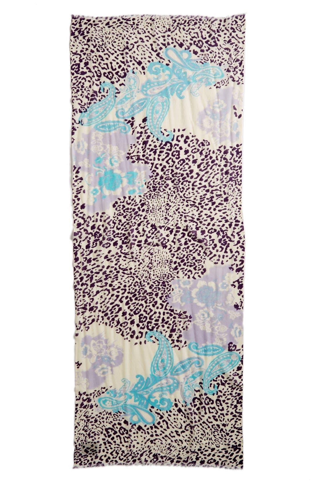 Alternate Image 2  - La Fiorentina Mixed Print Wool Scarf