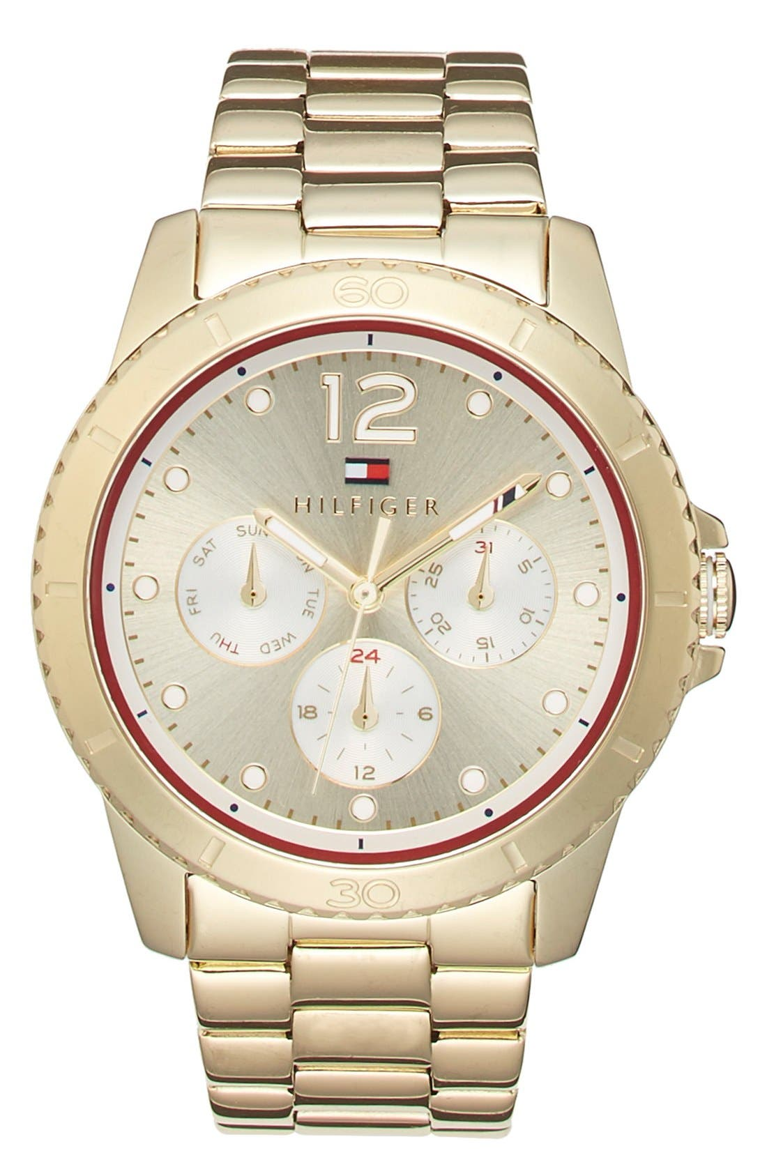 Main Image - Tommy Hilfiger Multifunction Bracelet Watch, 38mm