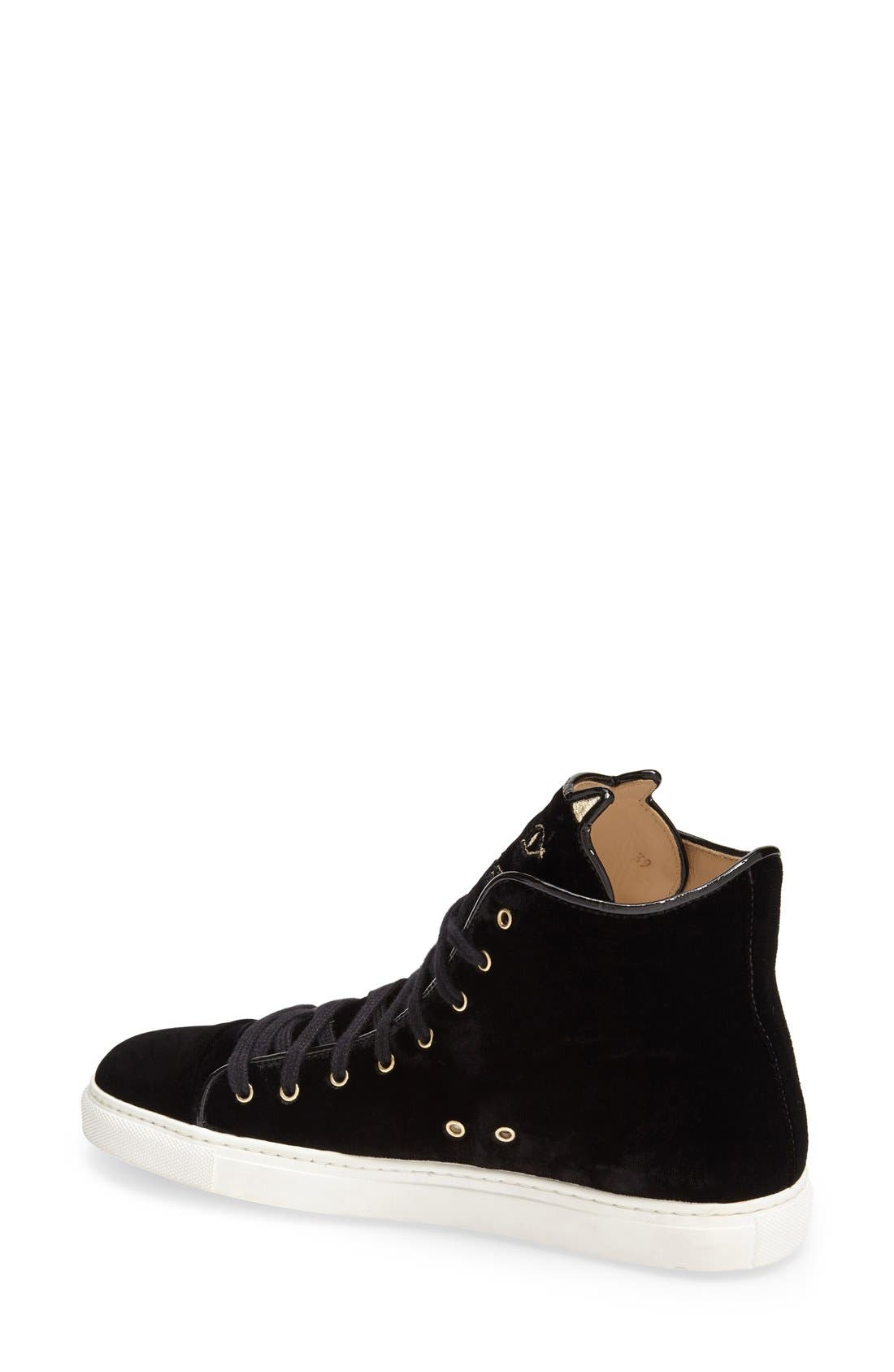 Alternate Image 2  - Charlotte Olympia 'Purrrfect' High Top Sneaker (Women)