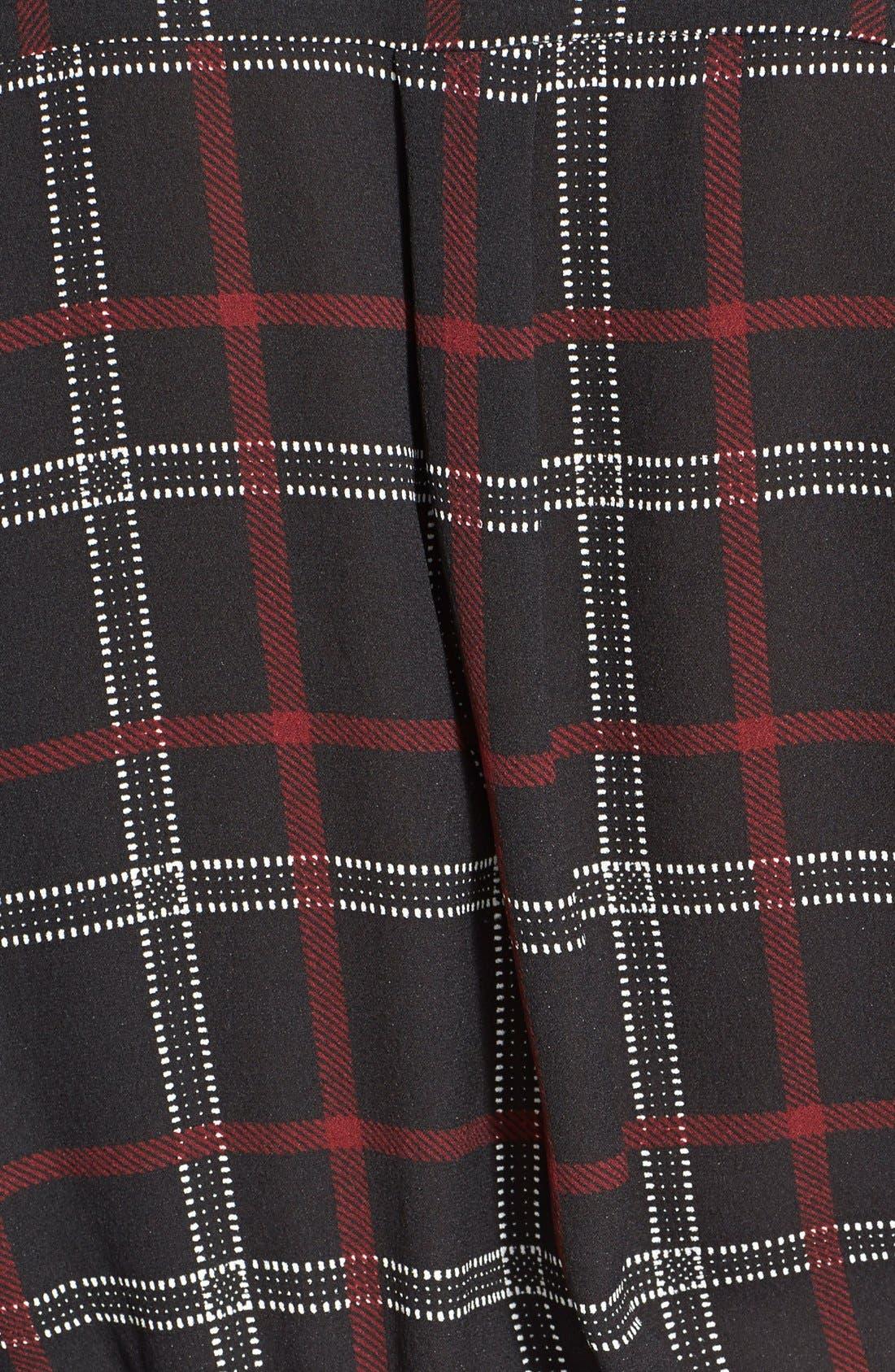 Alternate Image 3  - A.L.C. 'Simona' Check Print Silk Dress