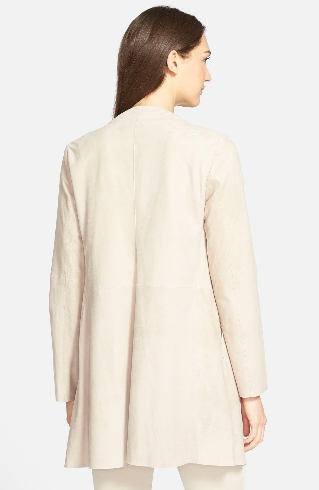 Alternate Image 2  - Eileen Fisher Drape Front Soft Suede Jacket