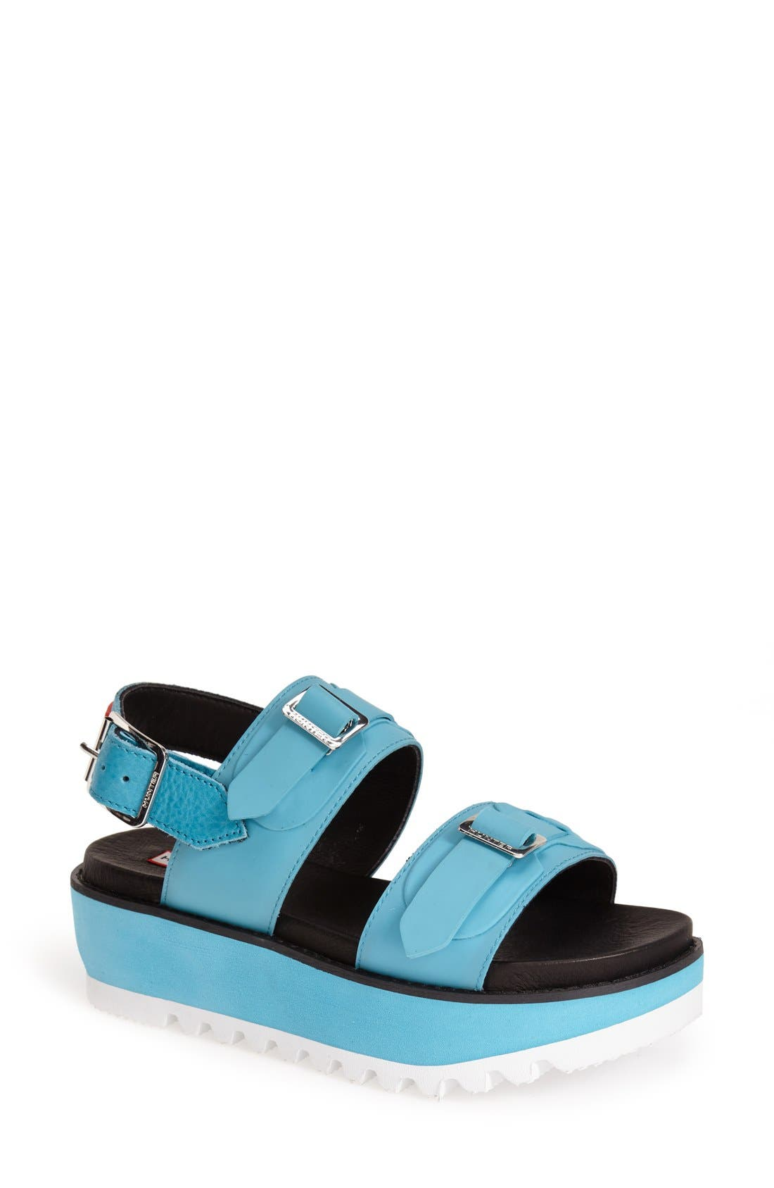Main Image - Hunter Double Buckle Mid Flatform Sandal (Women)