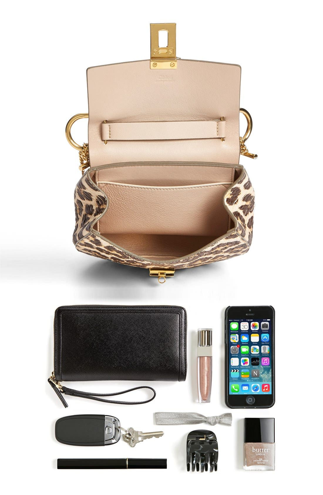 Alternate Image 6  - Chloé 'Drew' Leopard Print Leather Shoulder Bag