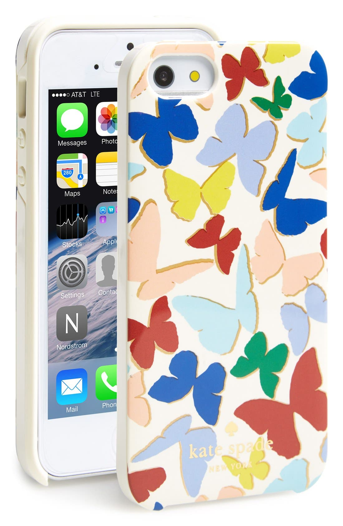 Alternate Image 1 Selected - kate spade new york 'butterfly' iPhone 5 & 5s case