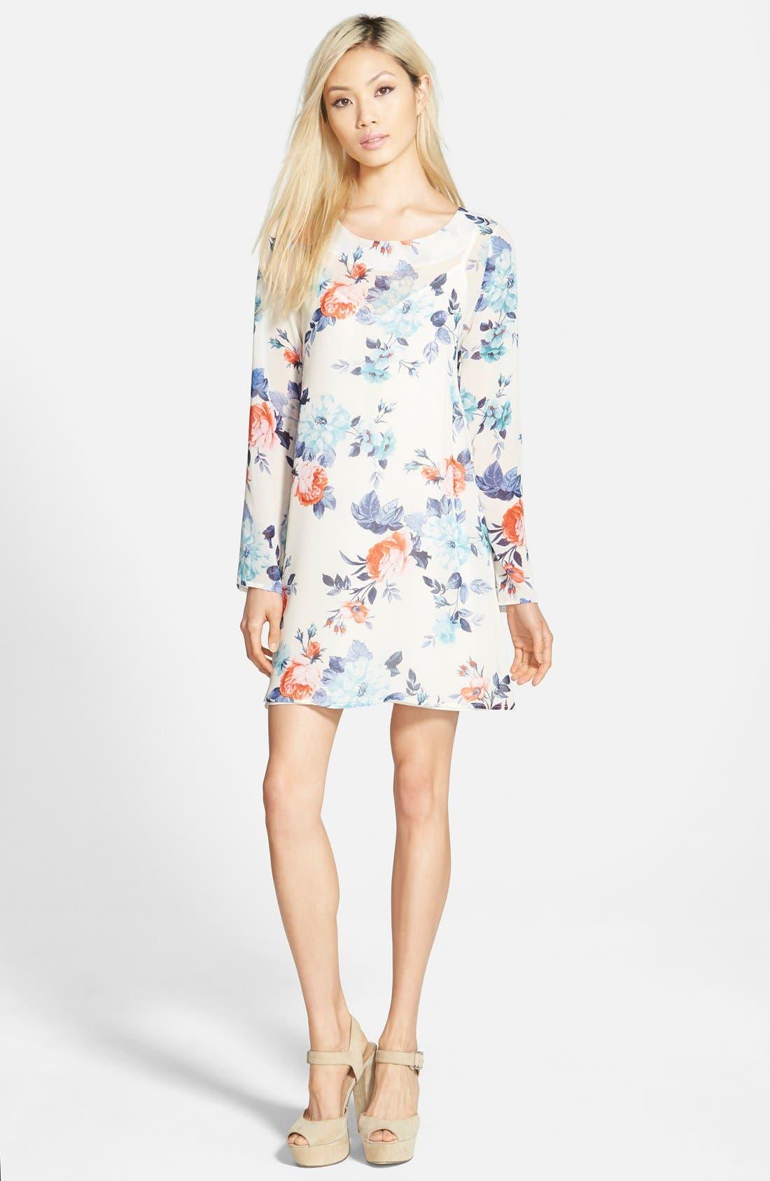 Alternate Image 1  - Floral Print Swing Dress