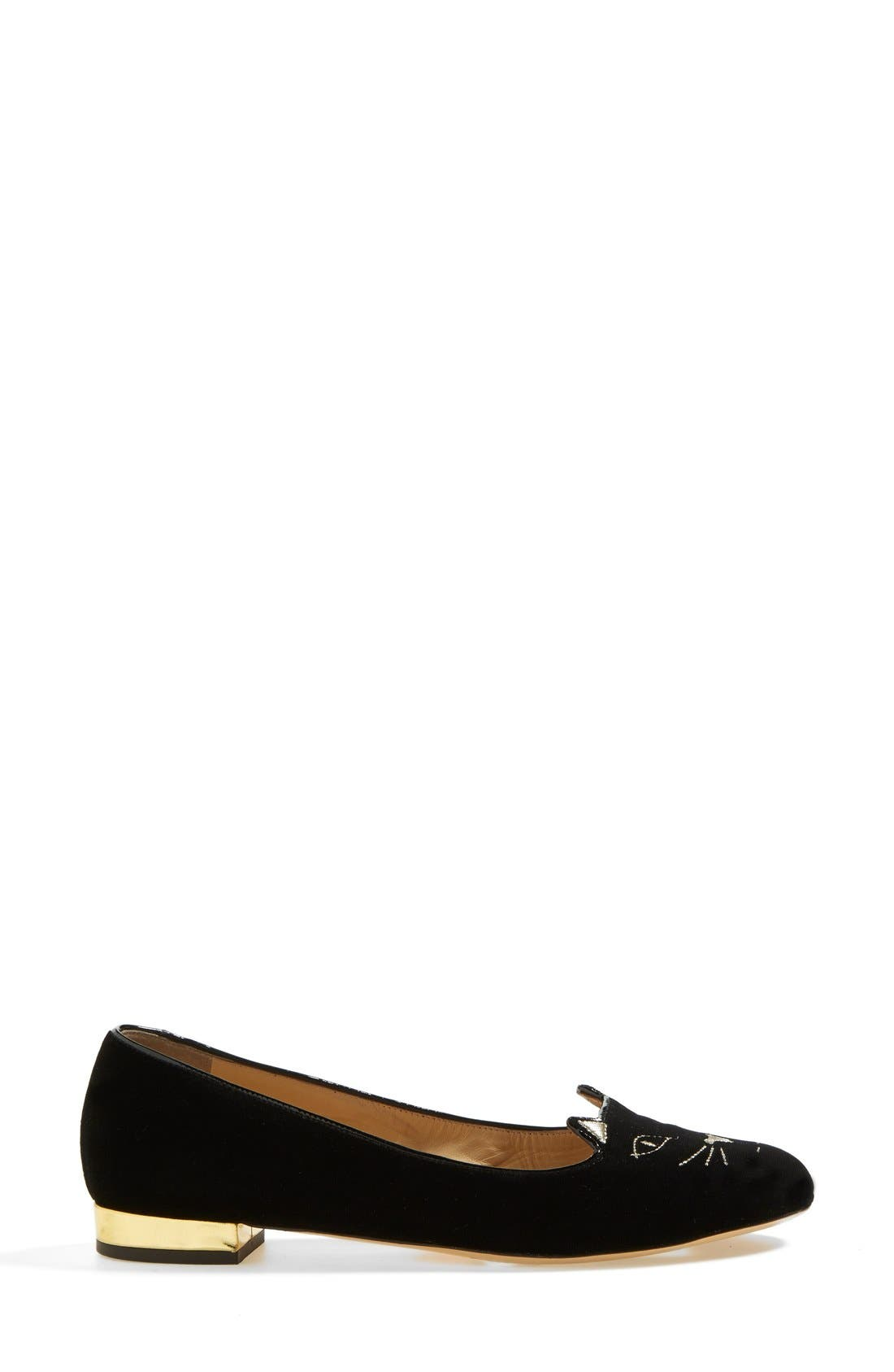 Alternate Image 4  - Charlotte Olympia 'Kitty' Flat (Women)