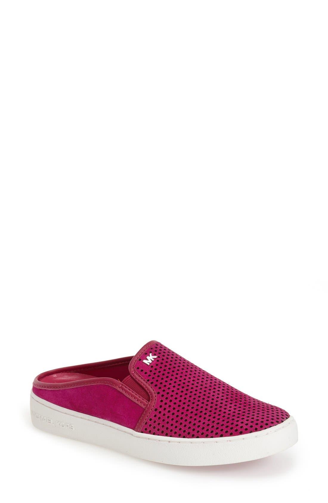 Main Image - MICHAEL Michael Kors 'Brett' Perforated Slip-On Mule Sneaker (Women)