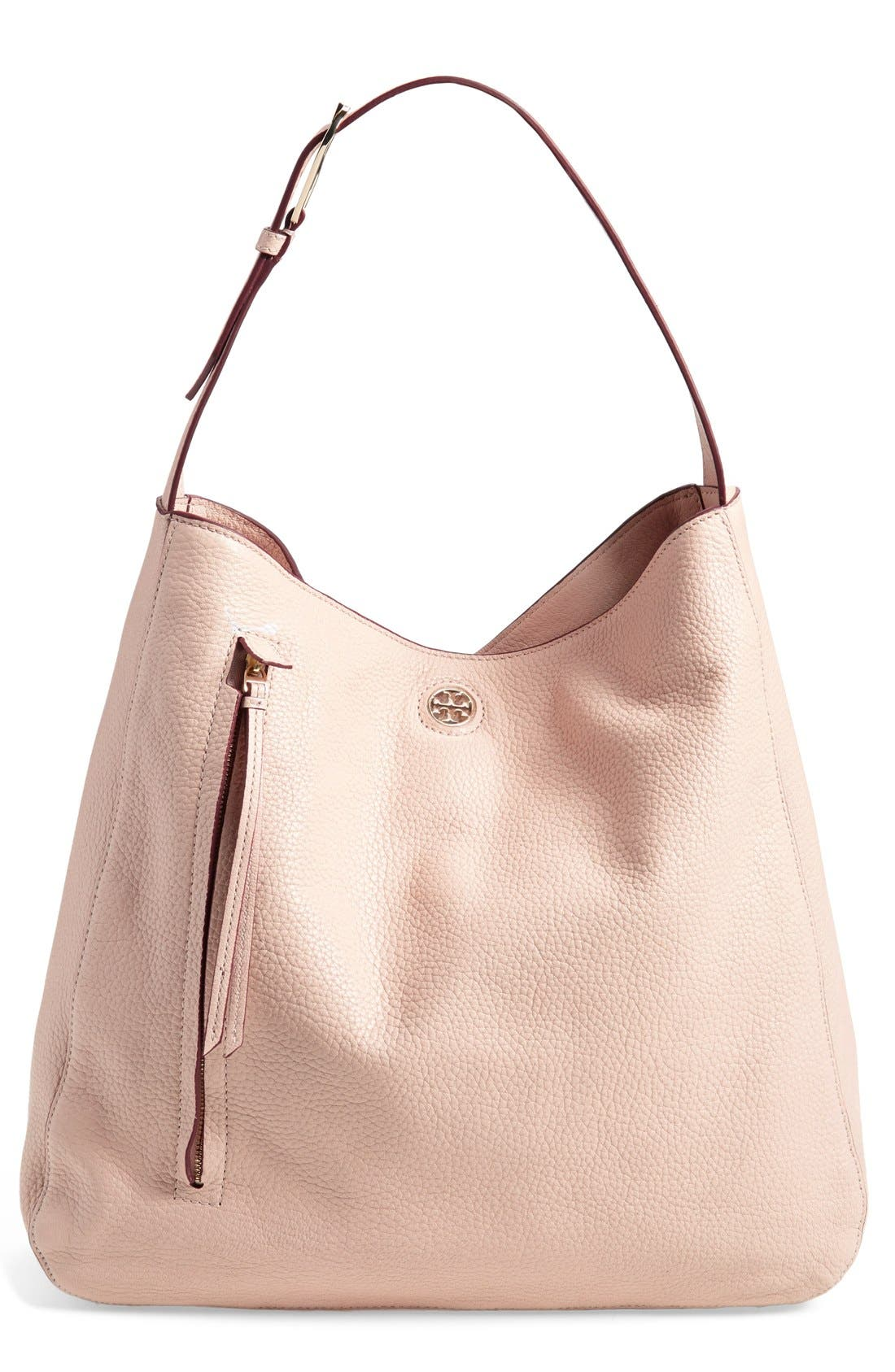 Alternate Image 1 Selected - Tory Burch 'Brody' Leather Hobo Bag