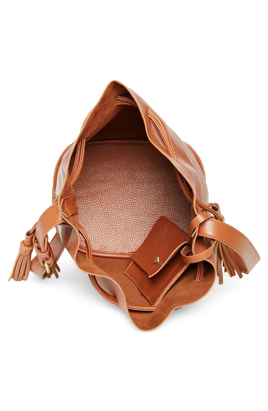 Alternate Image 4  - Street Level Faux Leather Bucket Bag (Online Only)