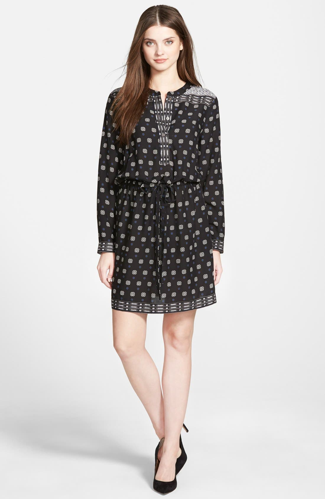 Alternate Image 1 Selected - Two by Vince Camuto Foulard Border Shirtdress