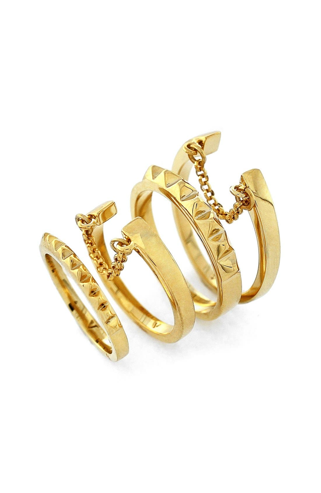 Main Image - Vince Camuto 'Super Fine' Band Rings (Set of 4)