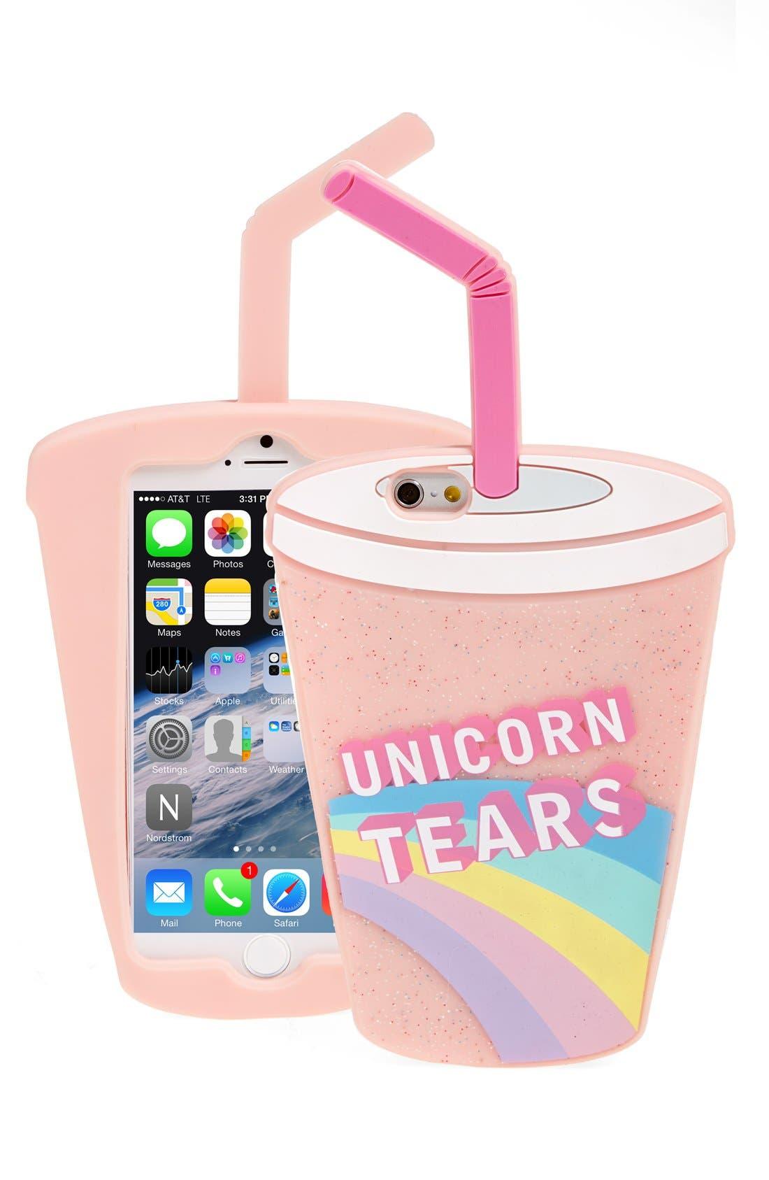 Alternate Image 1 Selected - Skinny Dip 'Unicorn Tears' iPhone 6 & 6s Case