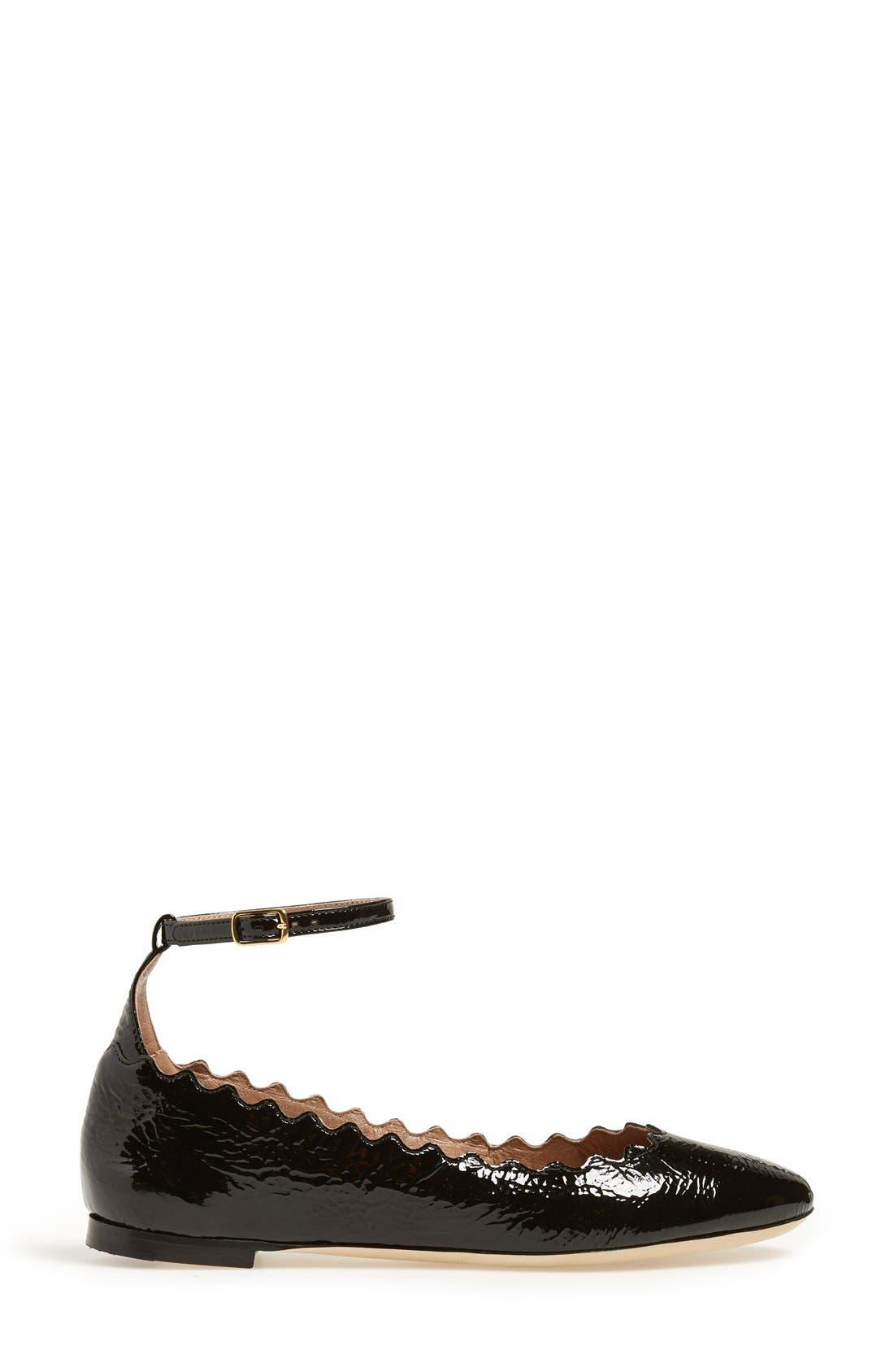 Alternate Image 4  - Chloé 'Laurent' Ankle Strap Flat (Women)