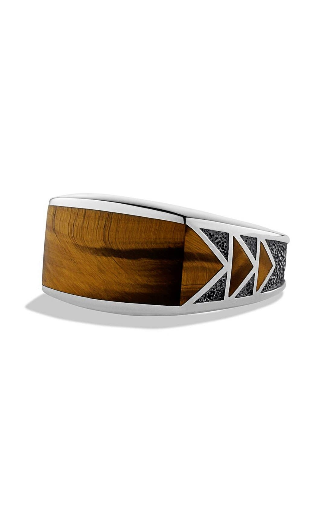 Alternate Image 1 Selected - David Yurman 'Frontier' Ring with Tiger's Eye