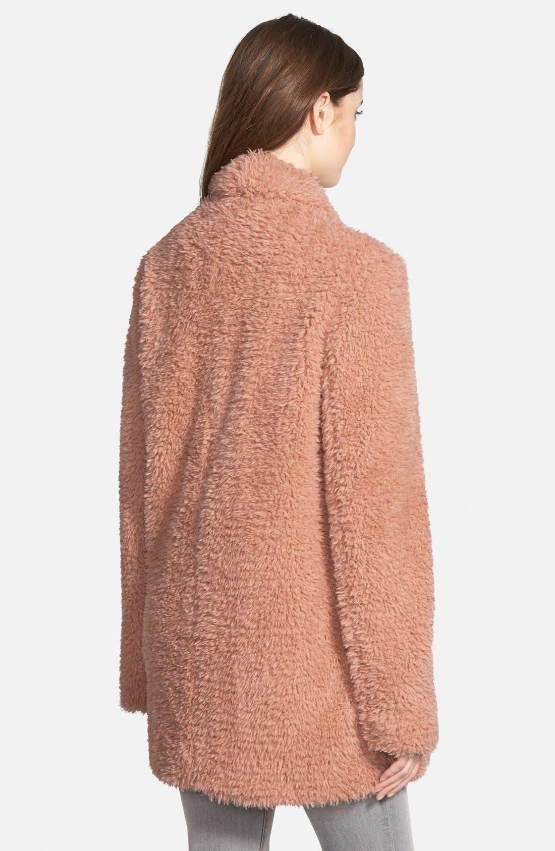 Alternate Image 2  - Kenneth Cole New York 'Teddy Bear' Faux Fur Clutch Coat