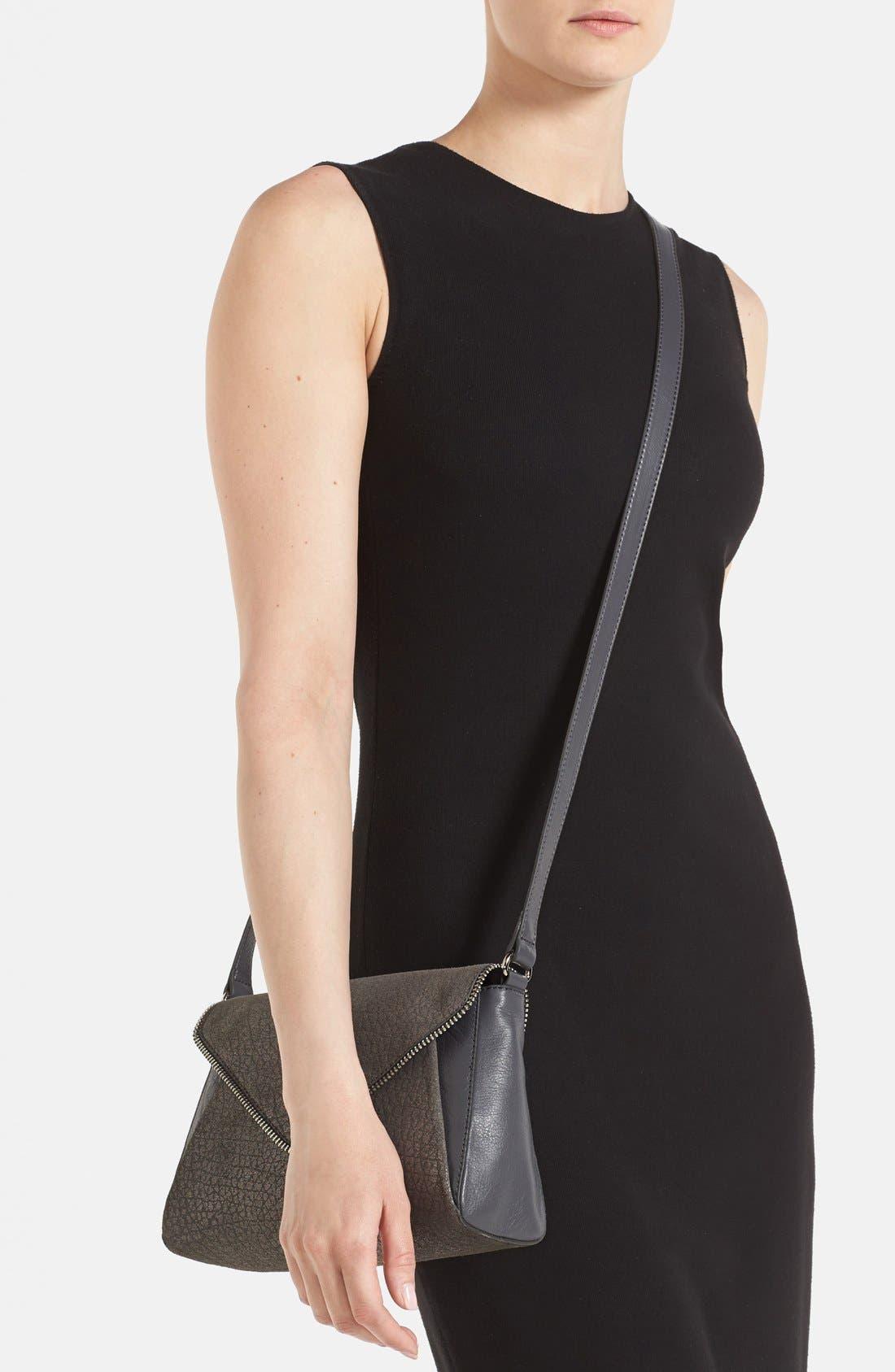 Alternate Image 2  - Halogen® Zip Detail Envelope Crossbody Bag
