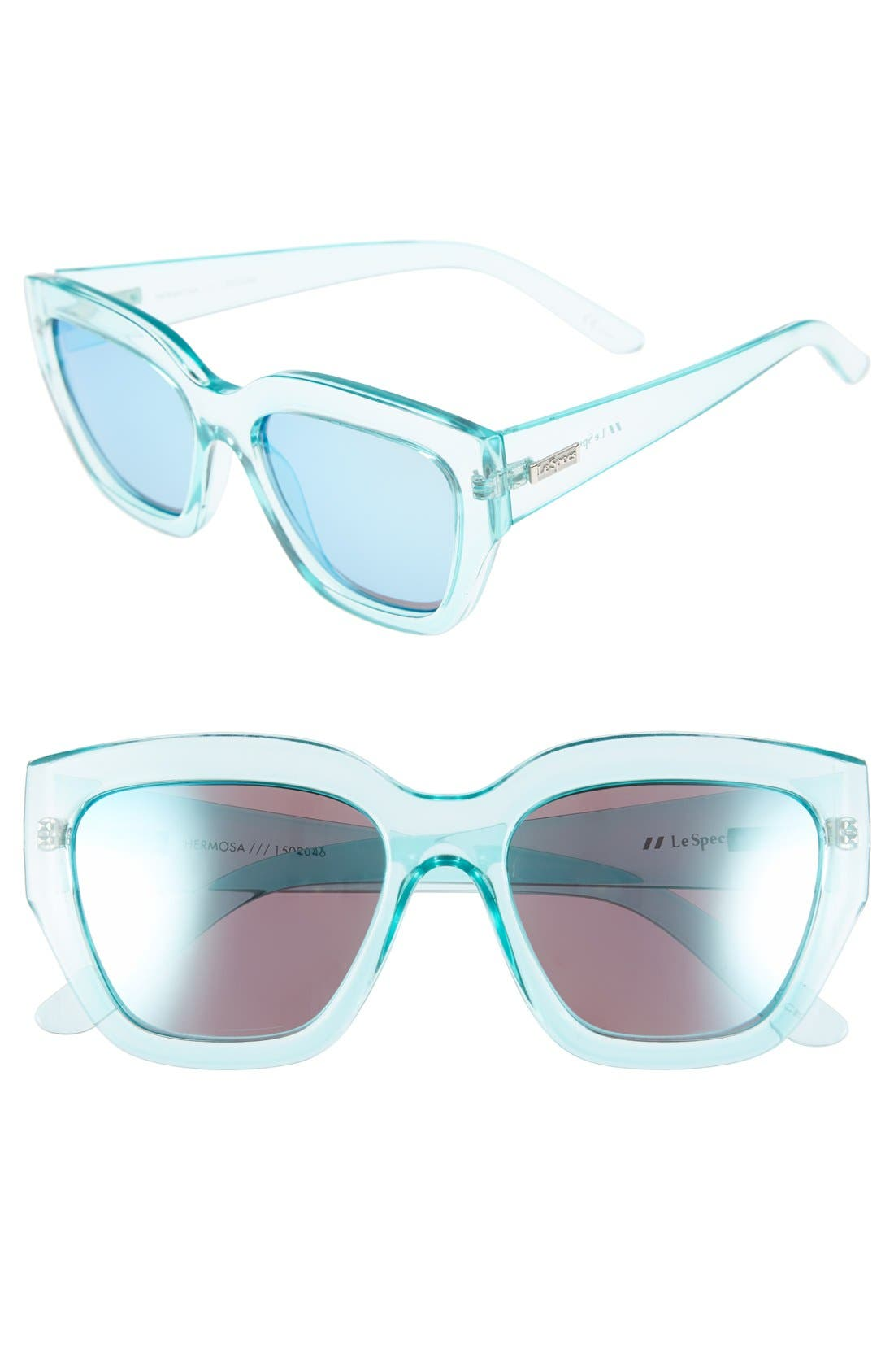 Alternate Image 1 Selected - Le Specs 'Hermosa' 54mm Oversize Cat Eye Sunglasses