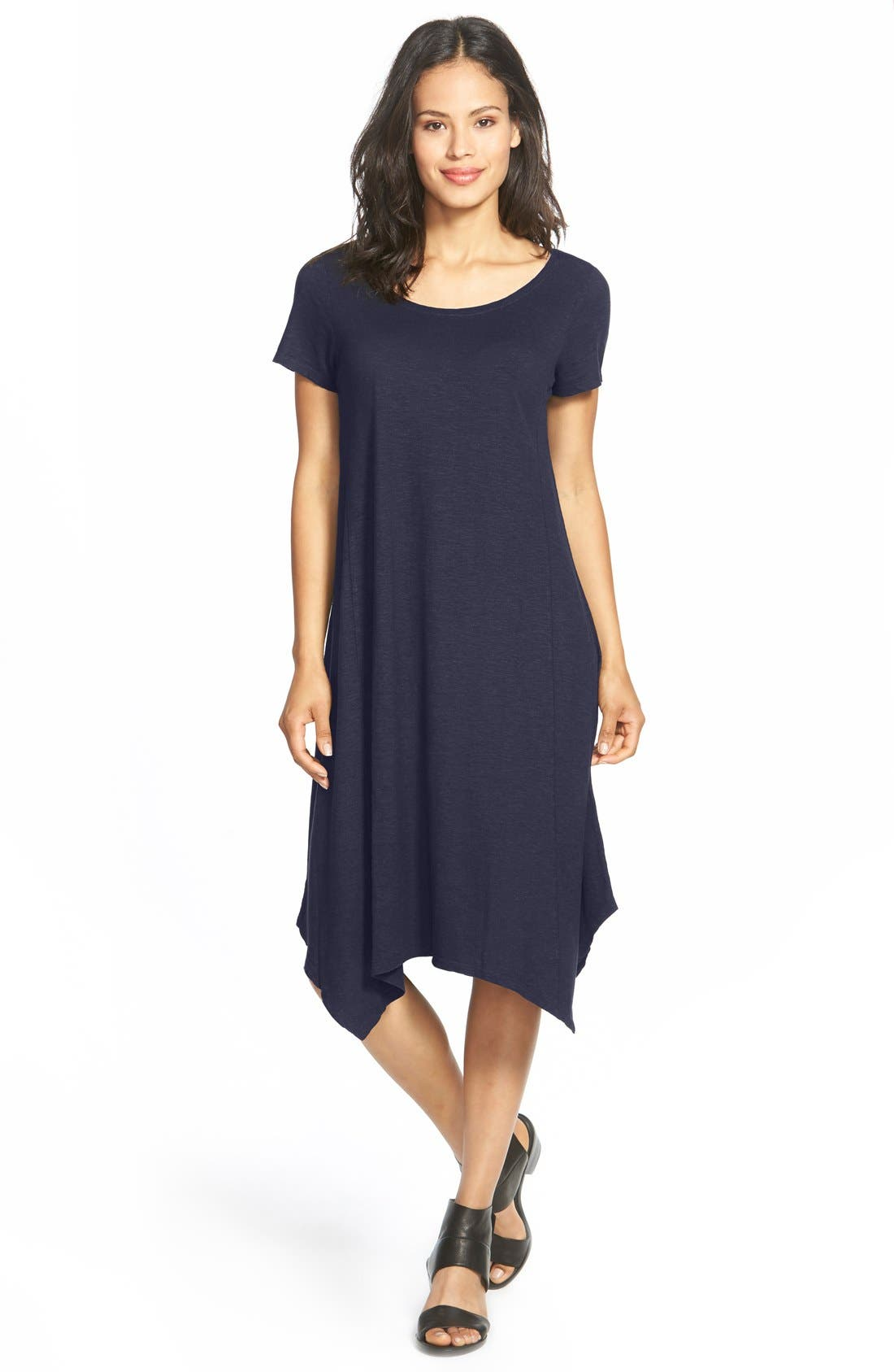 Eileen Fisher Hemp & Organic Cotton Handkerchief Dress (Regular & Petite) (Nordstrom Exclusive)