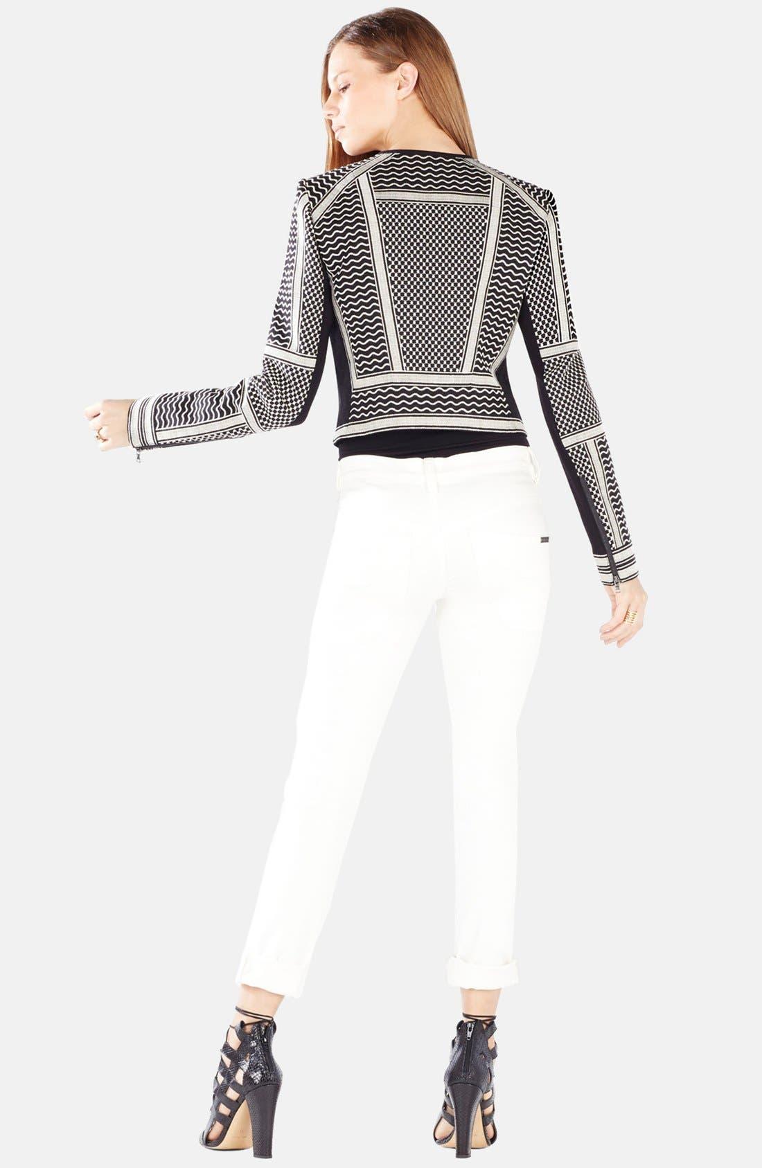 Alternate Image 2  - BCBGMAXAZRIA 'Duke' Embroidered Jacquard Jacket