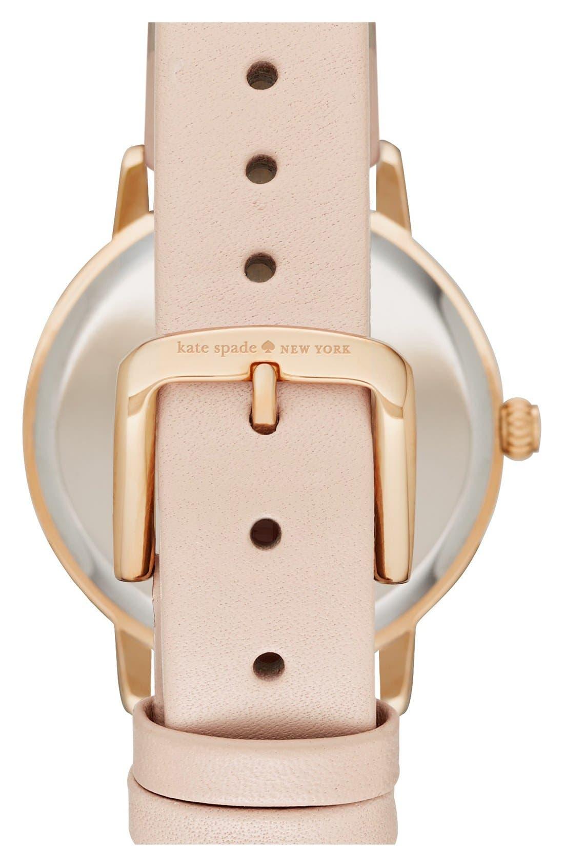 Alternate Image 2  - kate spade new york 'metro - eat cake' leather strap watch, 34mm