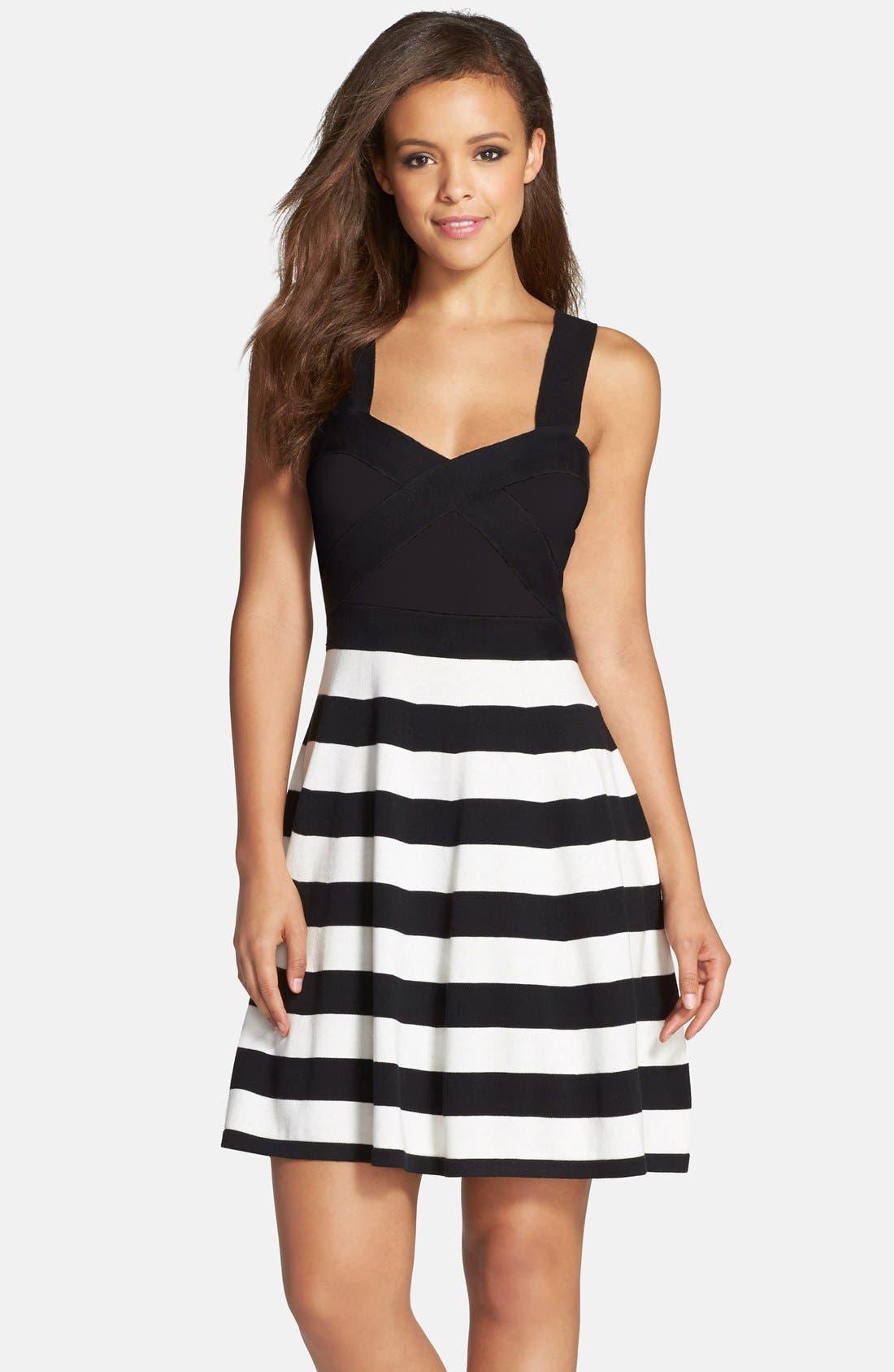 Alternate Image 1 Selected - Trina Turk 'Envy' Stripe Sweater Dress
